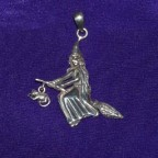Moonlight Ride Silver Pendant